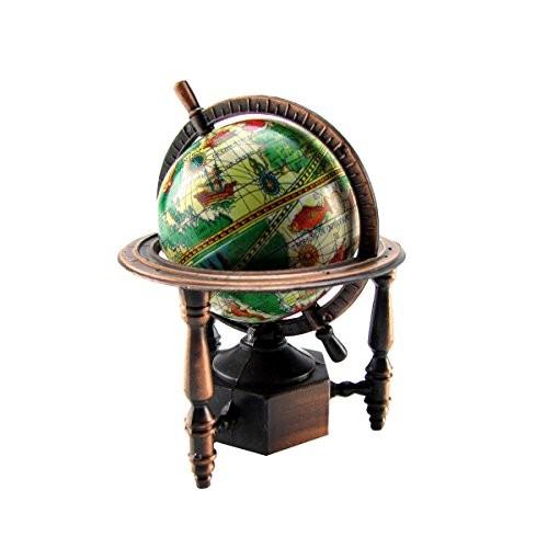 TGLLC Treasure Gurus 1 12 Miniature World Globe Dollhouse Diorama Accessory Die Cast Pencil Sharpener