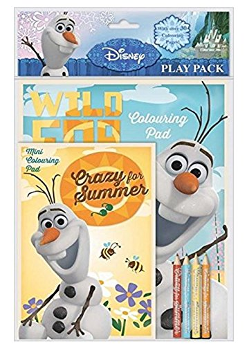Disney Frozen Olaf Play Pack Colouring Pads Pencils Kids Activity Set