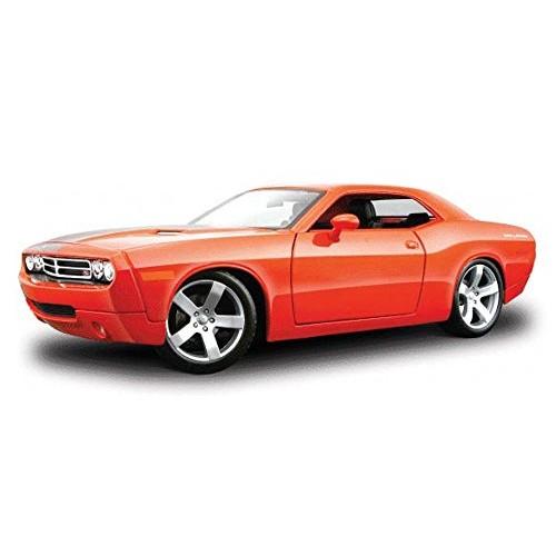 Maisto Dodge Challenger Concept Orange Premiere 36138 – 1/18 Scale Diecast Model Toy Car