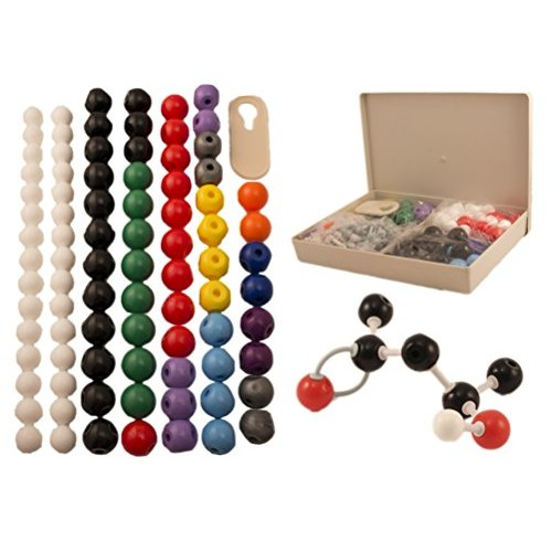 Molecular Model Kit for Organic & Inorganic Chemistry – 86 Atoms 153 Bonds 239 Total Pieces by University Co