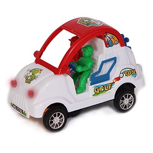 Dazzling Toys Bump and Go Toy Car – Battery Operated Novelty Toy Car with