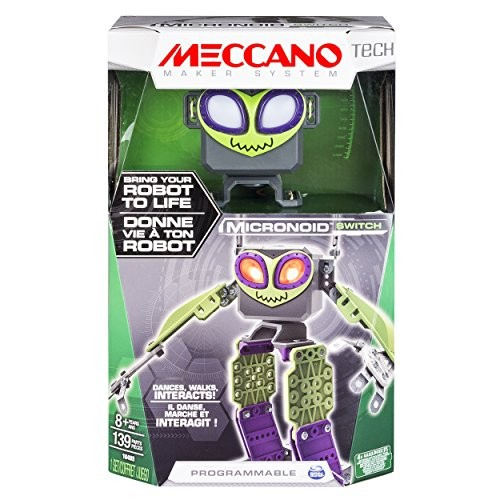 Meccano – Micronoid Green Switch Bring Your Robot To Life Dances Walks Interacts