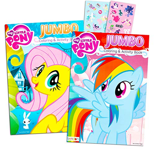 - My Little Pony Coloring Book Super Set With Stickers 2 Jumbo Books And  Sticker Pack Featuring Rainbow Dash Fluttershy Pinkie Pie More -  Educational Toys Planet