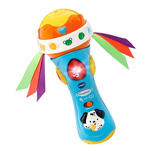 VTech Baby Babble and Rattle Microphone Blue