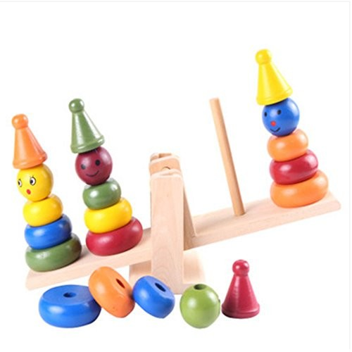 Kylin Express Wooden Early Educational Multicolor Balance Block Toys for Baby