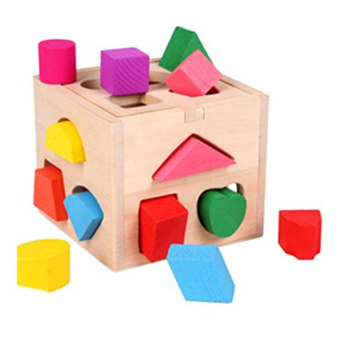 Kylin Express Wooden Multicolor Early Educational Flexible Funny Shaped-Match Block Toys