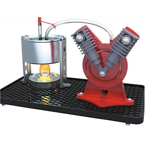 Sunnytech Mini Hot Live Steam Engine Model Education Toy DIY V-Type