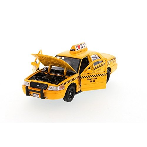 NYC New York City Taxi Cab Ford Crown Victoria 1:24 Scale I Love New