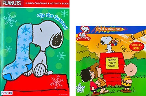 Peanuts Jumbo Coloring and Activity Book Color Read Along
