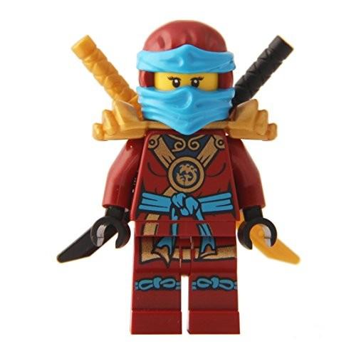 LEGO Ninjago Minifigure – Nya Deepstone Minifig with Armor and Swords