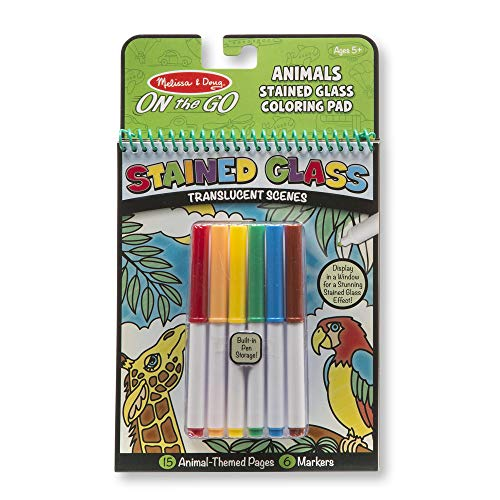 Melissa & Doug On the Go Stained Glass Coloring Pad – Animals
