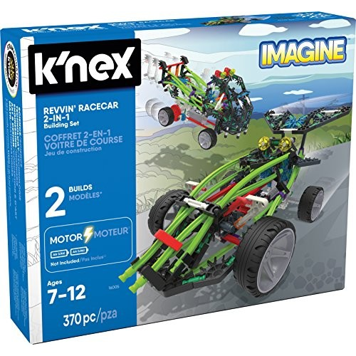 KNEx Revvin' Racecar 2-in-1 Building Set 370 Pieces Ages 7+ Engineering Educational Toy