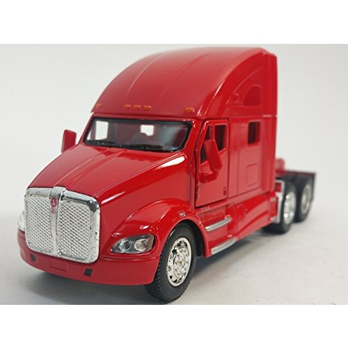 Kinsmart Red Kenworth T700 Tractor 1 68 S Scale Commercial Diecast Truck
