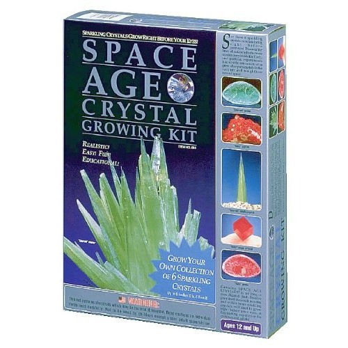 Space Age Crystal Growing Kit 6 Crystals Emerald and Ruby by Kristal Educational