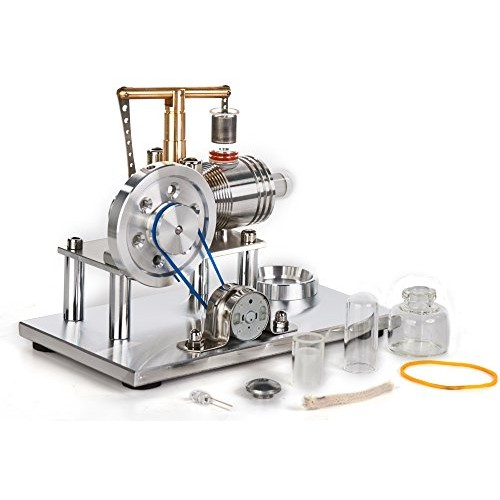 Sunnytech Hot Air Stirling Engine Motor Model Educational Toy Electricity Generator Colorful LED SC SC02M