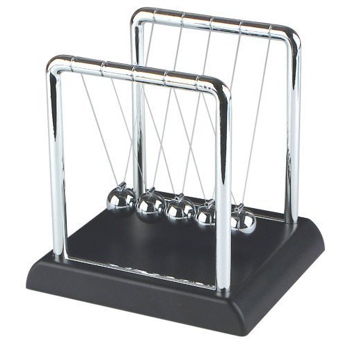 Fun Central Newtons Cradle Balance Balls – Physics Science Kit for Office Decoration and School Education