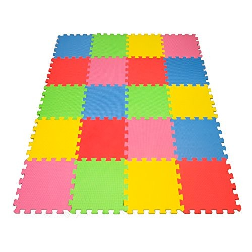 Angels 20 xLarge Foam Mats Toy ideal Gift Colorful Tiles Multi Use Create & Build A Safe PLay Area Interlocking Puzzle eva Non-Toxic Floor for Children Toddler Infant Kids Baby Room Yard Superyard