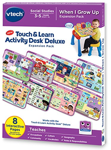 VTech Touch and Learn Activity Desk Deluxe Expansion Pack – When I Grow Up