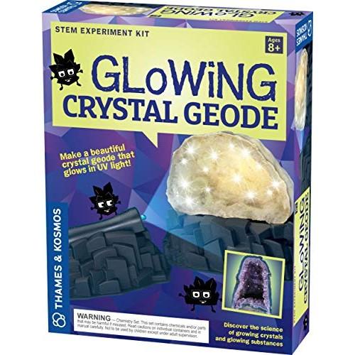 Geek & Co Science Glowing Crystal Geode