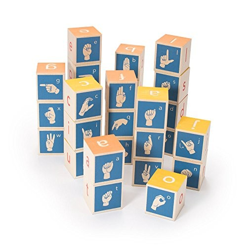 Uncle Goose American Sign Language Blocks – Made in The USA