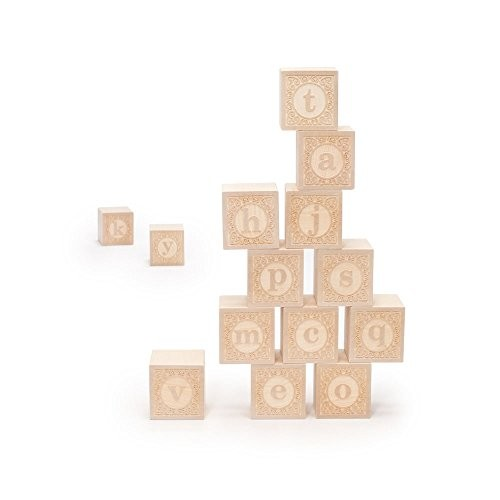 Uncle Goose Lowercase Alphablank Blocks – Made in The USA