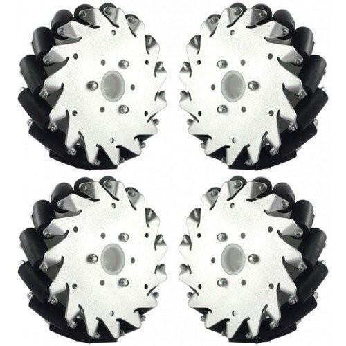 UniHobby 152mm 6 inch Aluminum Mecanum Wheels Set Maximum Load 15Kg 2x Left 2x Right