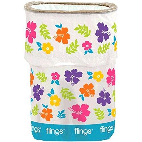 amscan Hibiscus Party Flings Bin 22 x 15 10 13 Gallons