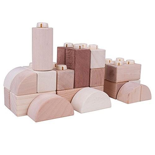 Bigjigs Toys Natural Wooden Click Blocks Set 100 Pieces – Stacking