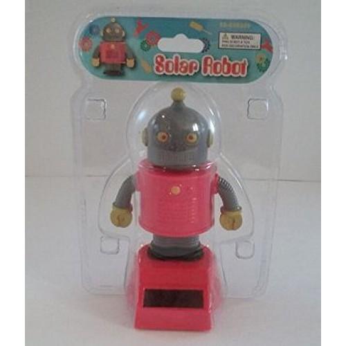 Solar Dancing Robot Grey & Red