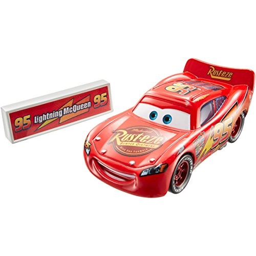 Disney Pixar Cars Movie Moments Lightning McQueen with Pit Stop Barrier Vehicle