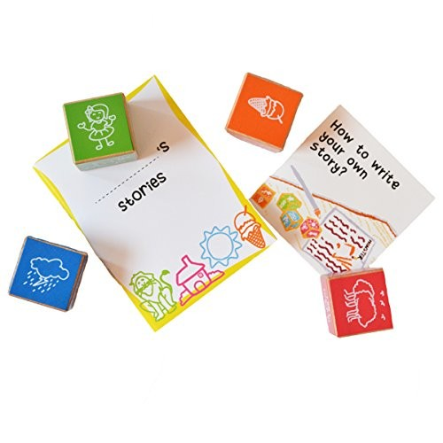 Shumee Tell Me A Story Wooden Cubes 4-10 Years – Storytelling & Articulation Skills Building Blocks