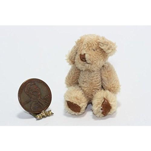 Dollhouse Miniature – Super Soft Brown Shaggy Teddy Bear
