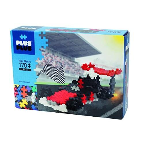 PLUS – Instructed Play Set 170 Piece Race Car Construction Building Stem Toy Interlocking Mini Puzzle Blocks for Kids