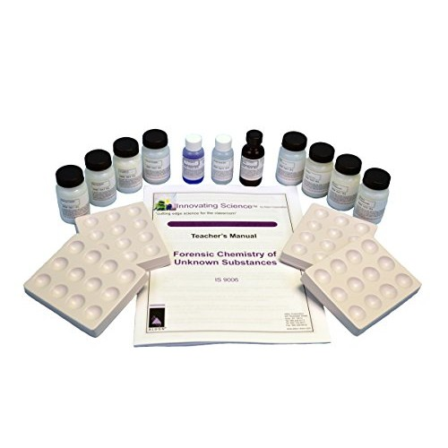 Forensic Chemistry Unknown Substances Analysis Kit Materials for 15 Groups