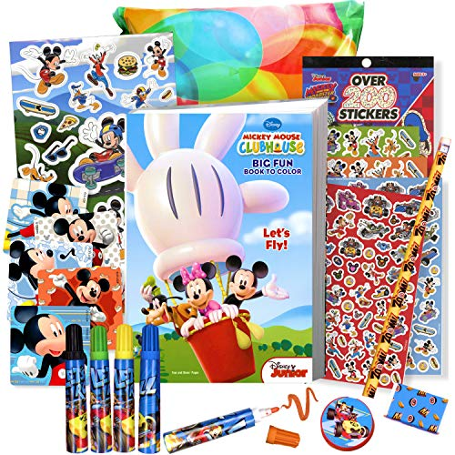 - Mickey Mouse Coloring Book With Stickers And Markers - 96 Page Washable -  Educational Toys Planet