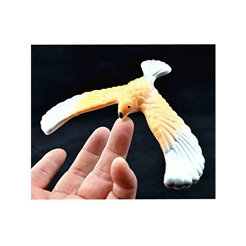 C&H Solutions Silver Wing Yellow Body Cute Balancing Bird with Clear Triangle Stand