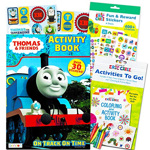 Thomas The Train Coloring And Activity Book Set With Over 400 Stickers 2  Books 8 Sticker Sheets - Educational Toys Planet