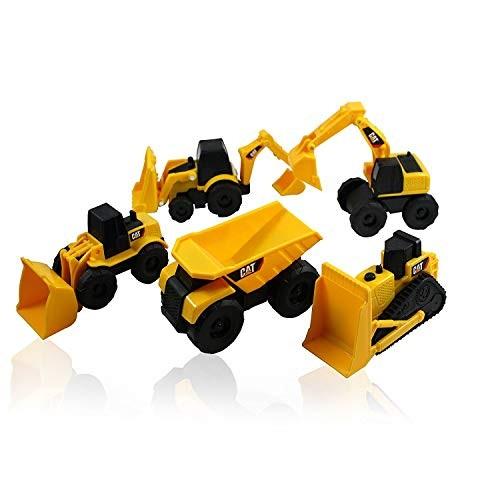 Caterpillar CAT Mini Machine Construction Truck Toy Cars Set of 5 Dump Truck Bulldozer