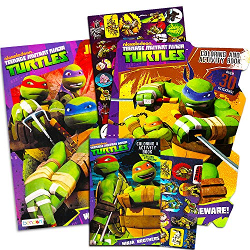 - Teenage Mutant Ninja Turtles Coloring And Activity Book Set With Stickers 3  TMNT Books Over 30 Stickers - Educational Toys Planet
