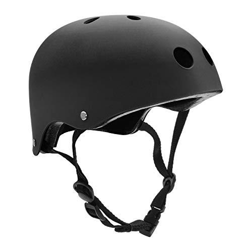 FerDIM Skateboard Helmet Kids/Adult Bike Helmet with Removable Liner Skiing Adjustable Straps CPSC Certified