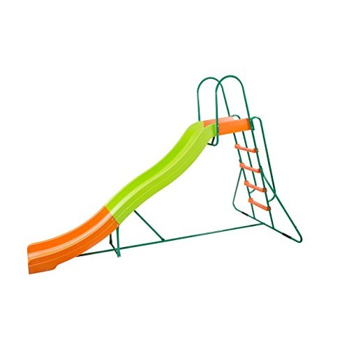 Platports Home Playground Equipment: 10' Indoor/Outdoor Wavy Slide Ages 3 to 10 2019 Toy