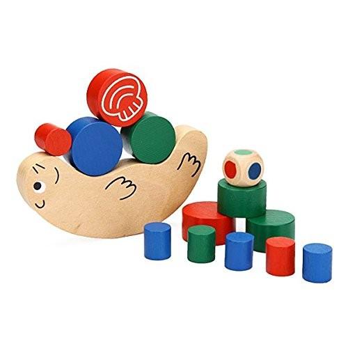Baby Children Snail Balance Game Wooden Building Blocks Toys