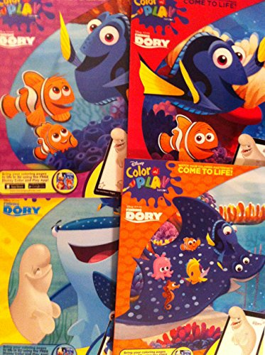 CleanIdeas Finding Dory Disney Pixar Coloring Book 8 x 11 Inch 96 Pages Each Pack of 4