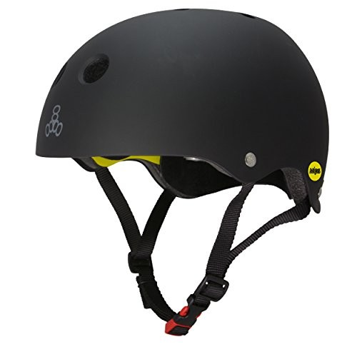 Triple Eight 3150 Dual Certified MIPS Bike and Skateboard Helmet Black Matte X-Small/Small