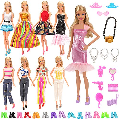 33Pcs Doll Clothes and Accessories for 12 Inch Boy and Girl Doll
