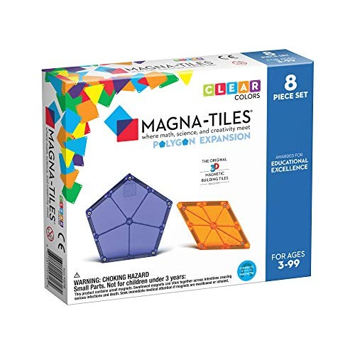 Magna Tiles 8Piece Polygons Expansion Set The Original Award-Winning Magnetic Building Creativity & Educational STEM Approved