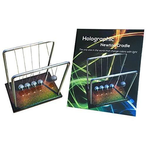 FAxADELLA Holocradle Newton Cradle Holographic Balls with Base