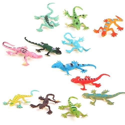 WINOMO Model Plastic Lizard Figures Kids Toy Set Tricks – 12pcs