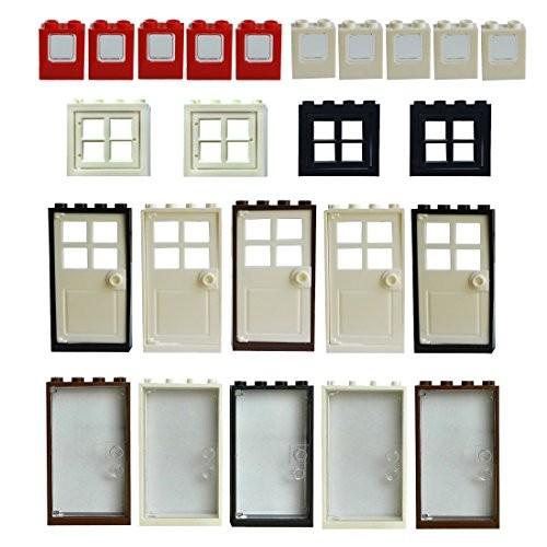 Windows Doors Set Bricks Block Compatible Major Brands Classic Pieces House Parts Building Toy