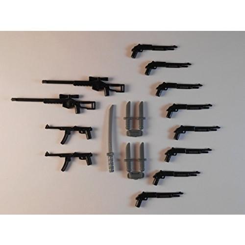 Guns for Lego Minifigures Lot of 17 New Sniper rifle shotgun Star Wars Batman Lightsabers Storm Trooper Weapons